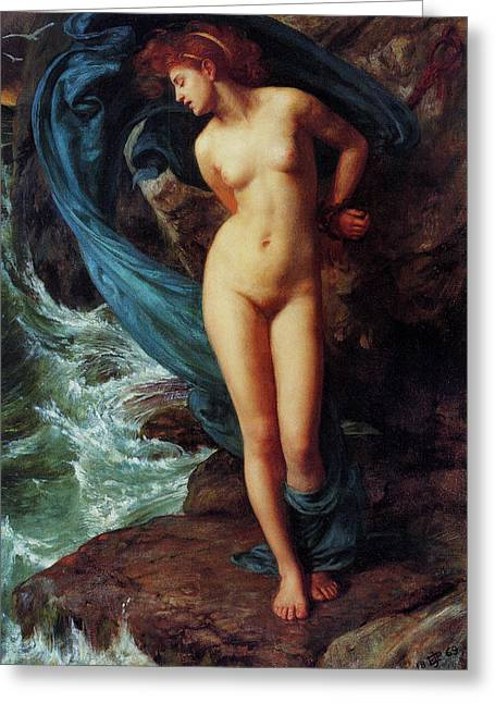Perseus Greeting Cards - Andromeda Greeting Card by Sir Edward John Poynter