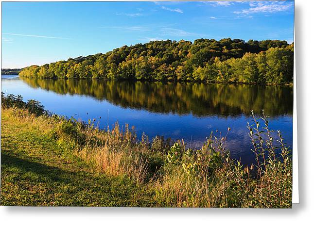 Androscoggin Greeting Cards - Androscoggin Morning Greeting Card by Laurie Breton