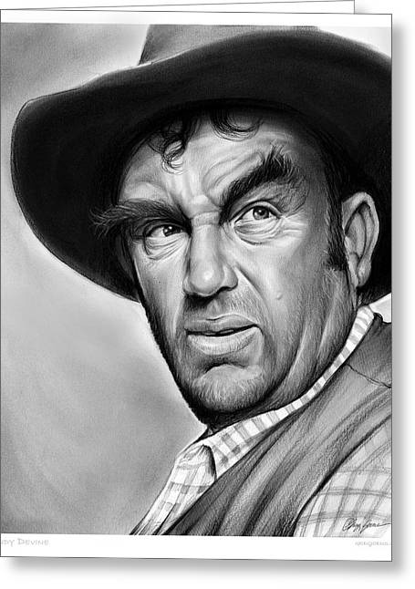 Andy Devine Greeting Card by Greg Joens