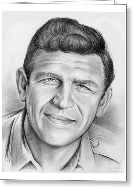 Andy Griffith Greeting Card by Greg Joens