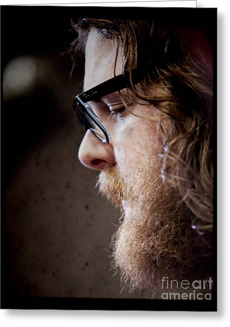 Hulls Greeting Cards - Andy Hull of Manchester Orchestra Greeting Card by Dustin K Ryan