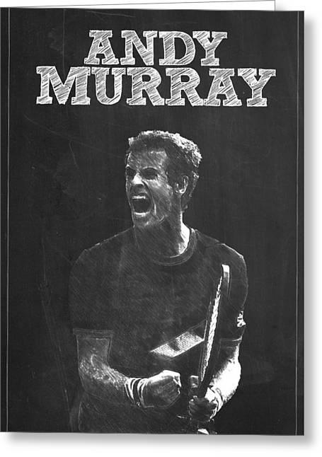 Federer Art Greeting Cards - Andy Murray Greeting Card by Semih Yurdabak
