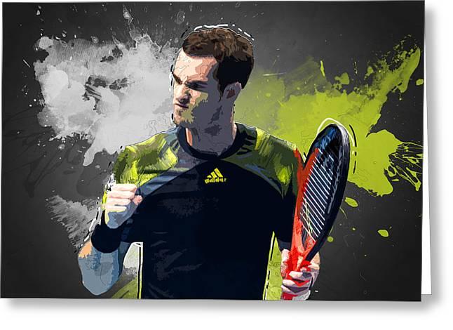 Federer Art Greeting Cards - Andy Murry Greeting Card by Semih Yurdabak