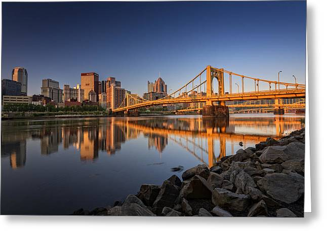 Pittsburgh Greeting Cards - Andy Warhol Bridge Greeting Card by Rick Berk