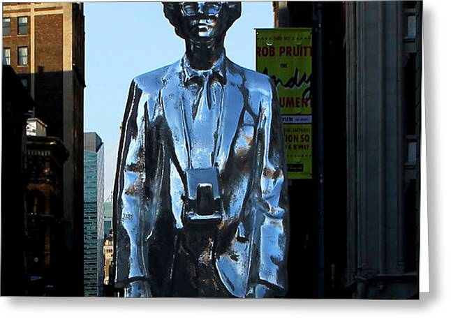 Andy Warhol New York Greeting Card by Andrew Fare
