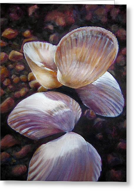 Beach Stones Greeting Cards - Anes Shells Greeting Card by Fiona Jack