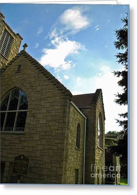 Bible Greeting Cards - Angel Above My Hometown Greeting Card by Matthew Seufer
