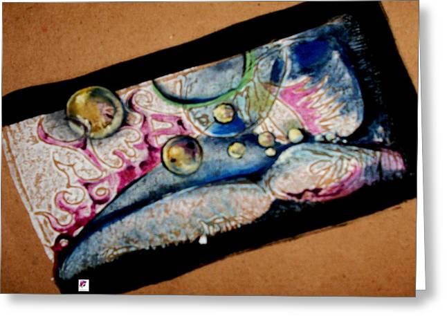 Angel Reliefs Greeting Cards - Angel Daydreaming Greeting Card by Carol Rashawnna Williams