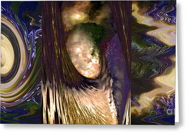 Mind-bending Greeting Cards - Angel decending from skies with Power n lightening abstract concept art buy prints or download jpg f Greeting Card by Navin Joshi
