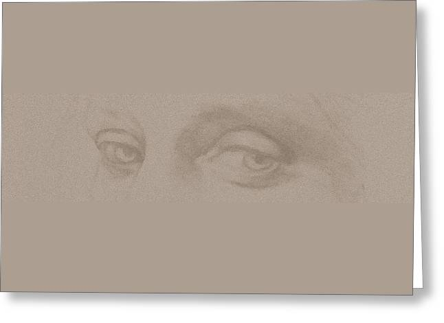 Angel Eyes Greeting Card by Stevie the floating artist