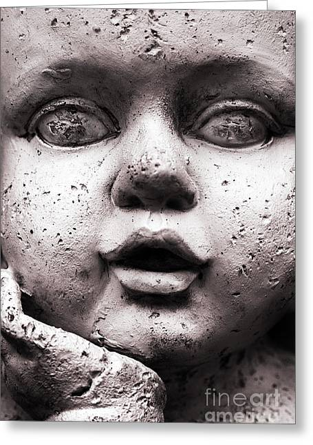 Dan Holm Greeting Cards - Angel Face Greeting Card by Dan Holm