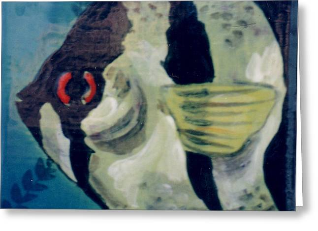 Angel Fish Greeting Card by Dy Witt