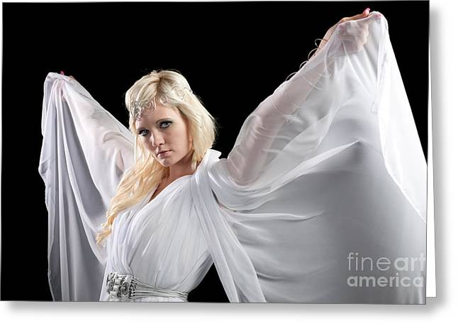 Singleton Greeting Cards - Angel Goddess Greeting Card by Cindy Singleton