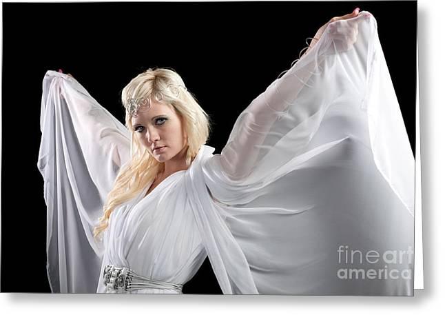 Cindy Greeting Cards - Angel Goddess Greeting Card by Cindy Singleton