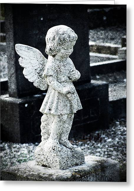 Religious Pictures Digital Art Greeting Cards - Angel in Roscommon No 3 Greeting Card by Teresa Mucha