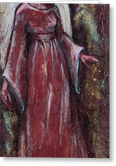 Transfer Paintings Greeting Cards - Angel Judy Greeting Card by Mary DuCharme