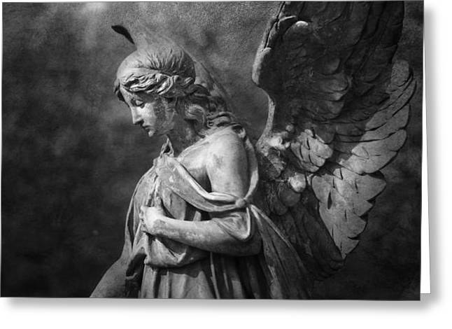 Angel Greeting Card by Marc Huebner