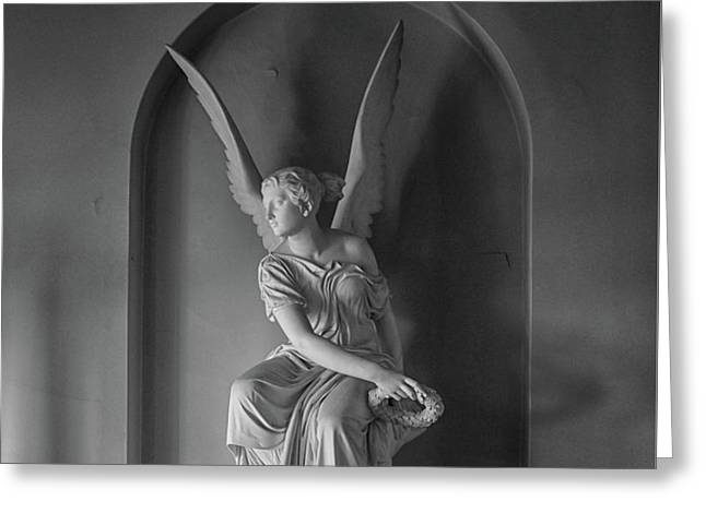 Angel Greeting Card by Martin Newman