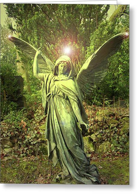 Anjo Greeting Cards - Angel of Alliance No. 01 Greeting Card by Ramon Labusch
