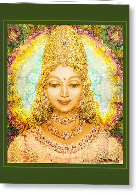 Recently Sold -  - Hindu Goddess Greeting Cards - Angel of Beauty Greeting Card by Ananda Vdovic