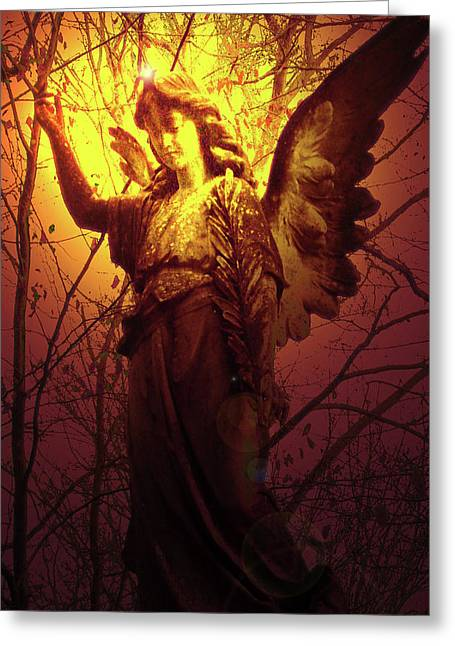 Anjo Greeting Cards - Angel of Bless No. 03 Greeting Card by Ramon Labusch