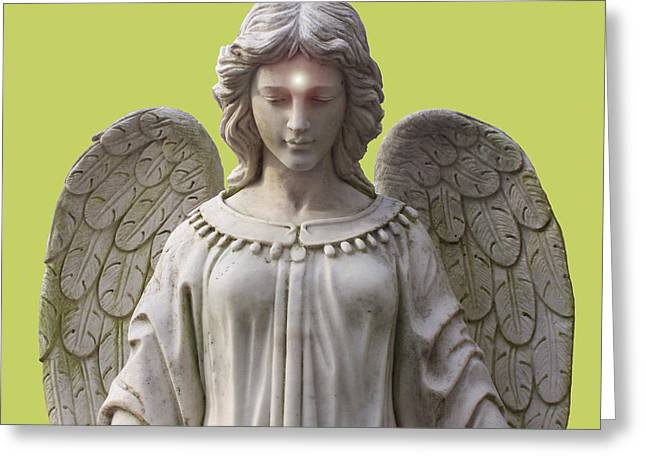 Seraphim Angel Mixed Media Greeting Cards - Angel of Devotion No. 01 Greeting Card by Ramon Labusch