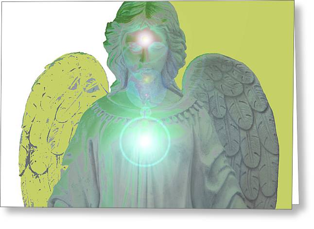 Anjo Greeting Cards - Angel of Devotion No. 10 Greeting Card by Ramon Labusch