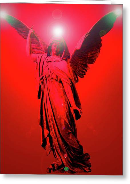 Anjo Greeting Cards - Angel of Harmony No. 03 Greeting Card by Ramon Labusch