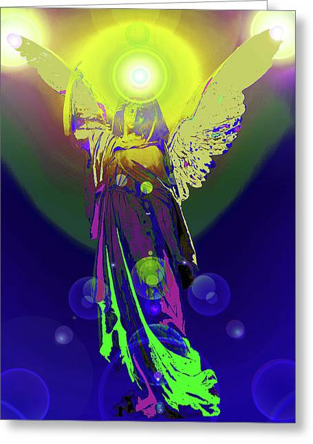 Anjo Greeting Cards - Angel of Harmony No. 09 Greeting Card by Ramon Labusch