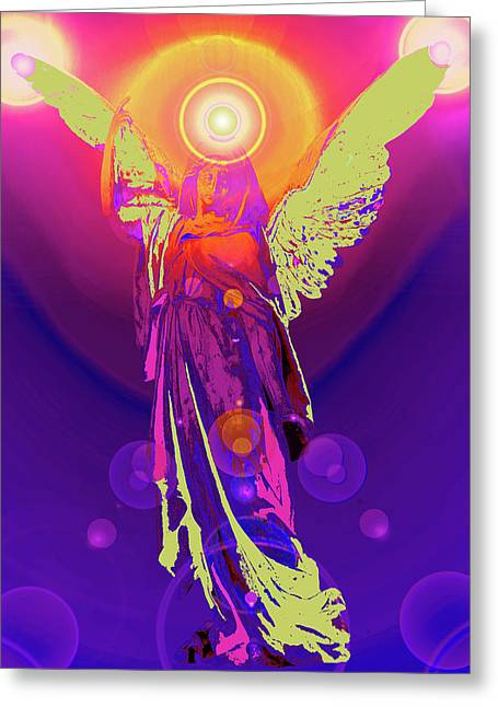 Anjo Greeting Cards - Angel of Harmony No. 10 Greeting Card by Ramon Labusch