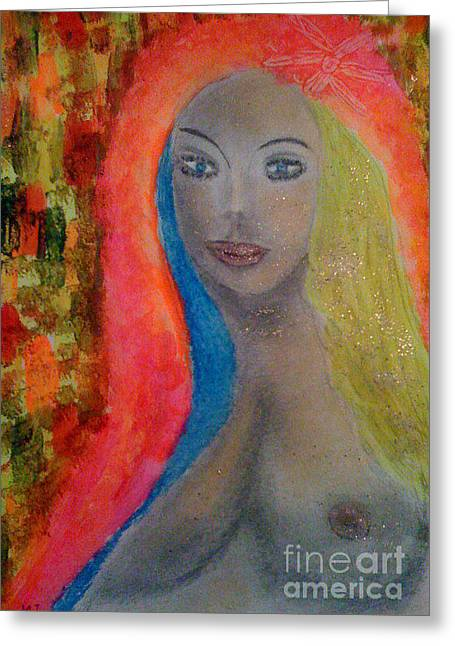 Angel Of Love Greeting Card by Marie Javorkova