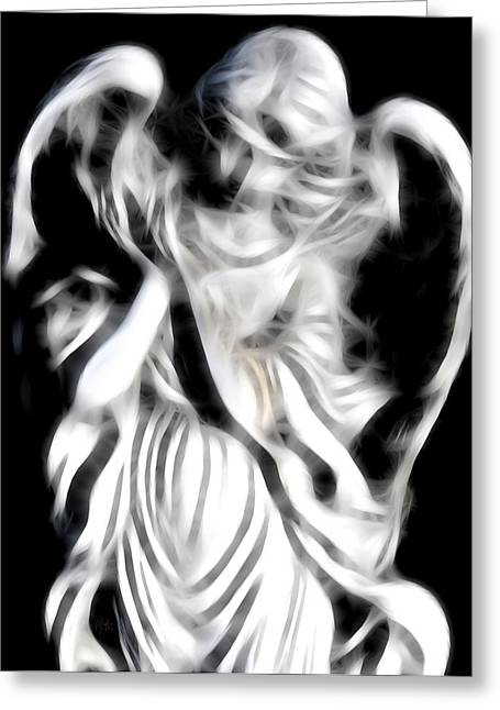 Guardian Angel Digital Greeting Cards - Angel Of Mercy Greeting Card by Holly Ethan