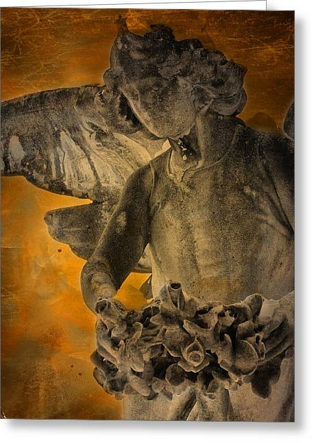 Stone Carving Greeting Cards - Angel of Mercy Greeting Card by Larry Marshall