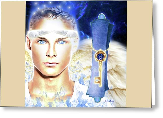 Angel Of Revelation Greeting Card by Jennifer Page