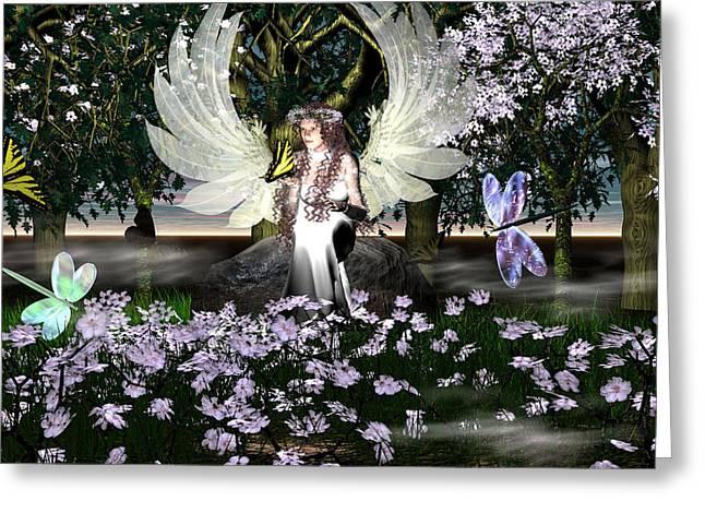 Eva Thomas Greeting Cards - Angel of Thankfulness Greeting Card by Eva Thomas