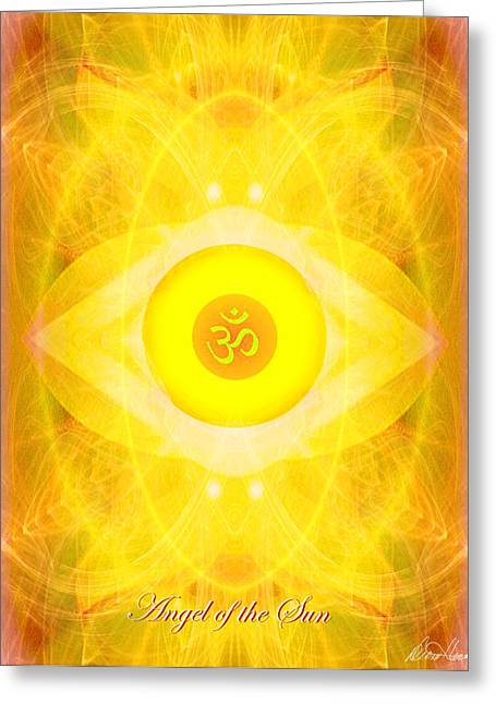 Diana Haronis Greeting Cards - Angel of the Sun Greeting Card by Diana Haronis