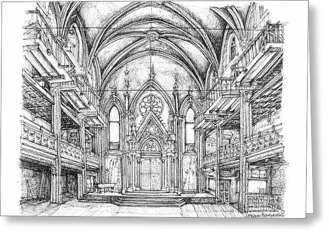 Best Sellers -  - Installation Art Greeting Cards - Angel Orensanz center in NYC Greeting Card by Lee-Ann Adendorff