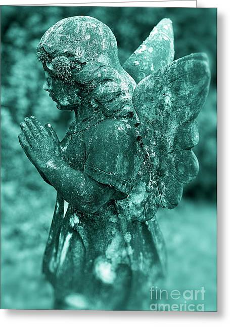 Angel Prayer Greeting Card by John Greim