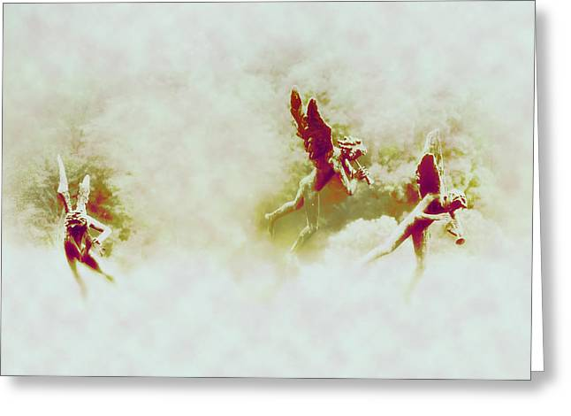 Flying Angel Greeting Cards - Angel Song Greeting Card by Bill Cannon