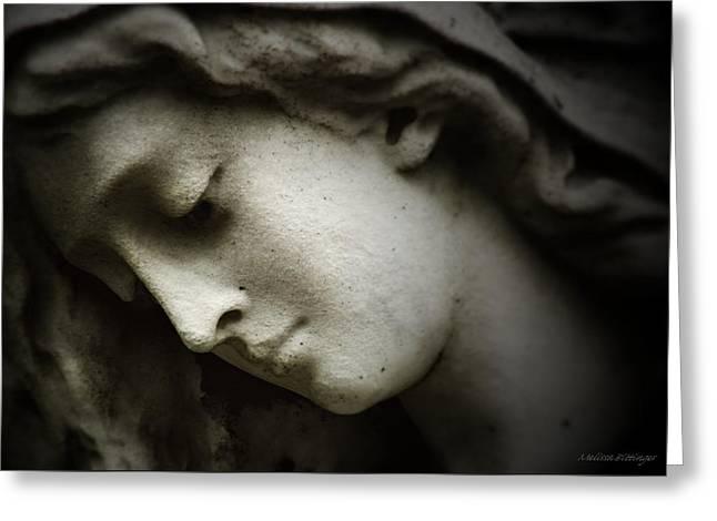 In Memoriam Greeting Cards - Angel Sorrow Greeting Card by Melissa Bittinger