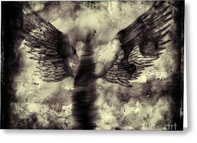 Seraphim Angel Greeting Cards - Angel V Greeting Card by J M Lister