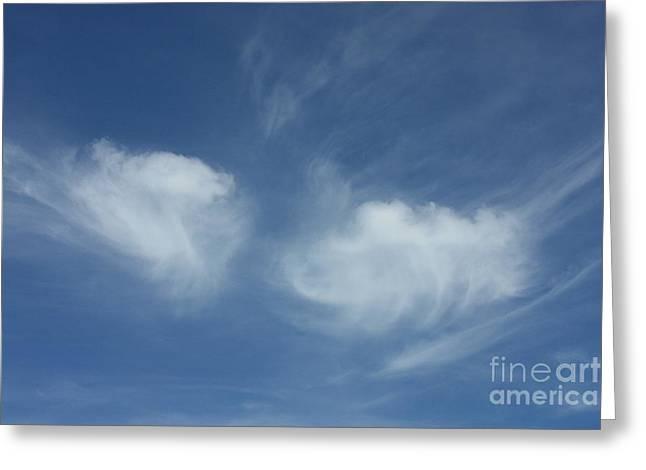 Angel Wings In The Sky Greeting Card by Carol Groenen