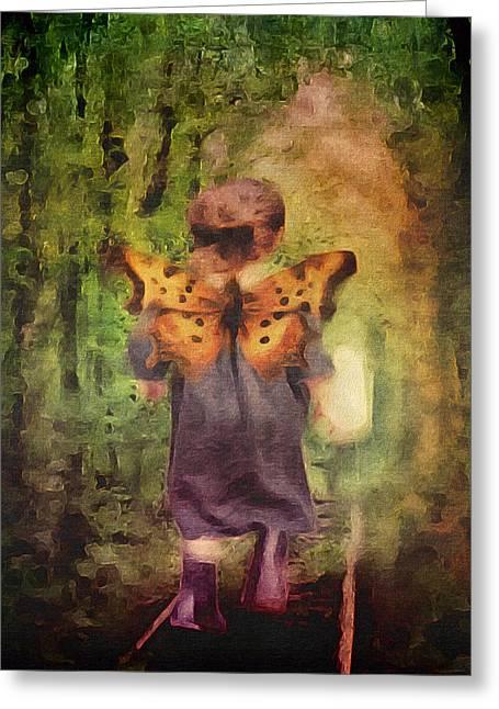Angel Wings Greeting Card by Lisa Noneman