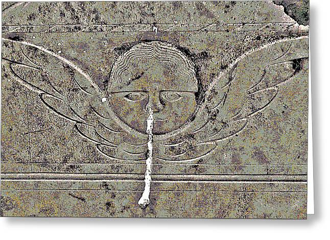 Engraving Greeting Cards - Angel with a Runny Nose 3 Greeting Card by Jean Hall