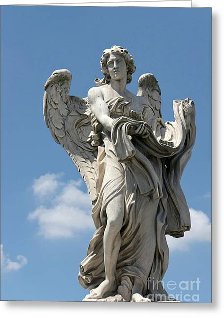 Passione Greeting Cards - Angel with the garment and dice II Greeting Card by Fabrizio Ruggeri