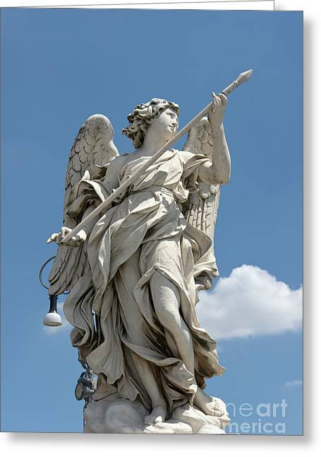 Passione Greeting Cards - Angel with the lance Greeting Card by Fabrizio Ruggeri