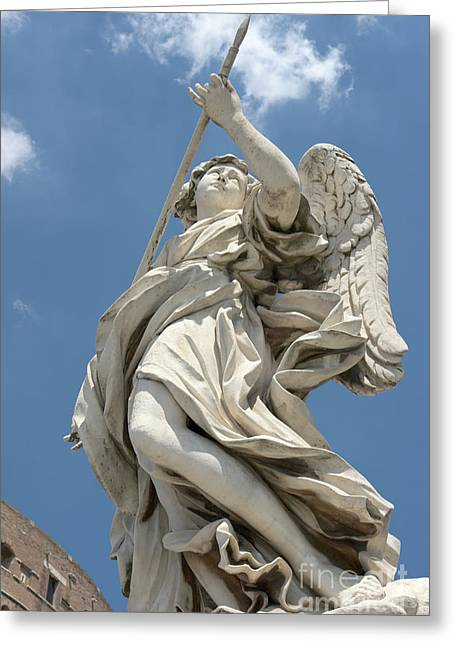 Passione Greeting Cards - Angel with the lance II Greeting Card by Fabrizio Ruggeri