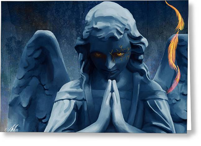 Angelic Greeting Card by Marion Sipe