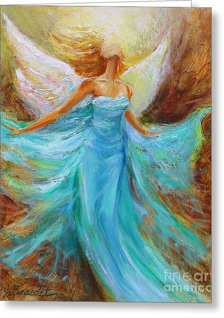 Angel Art Greeting Cards - Angelic Rising Greeting Card by Jennifer Beaudet
