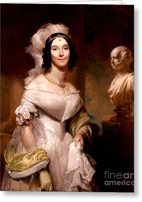 Angelica Van Buren, First Lady Greeting Card by Science Source